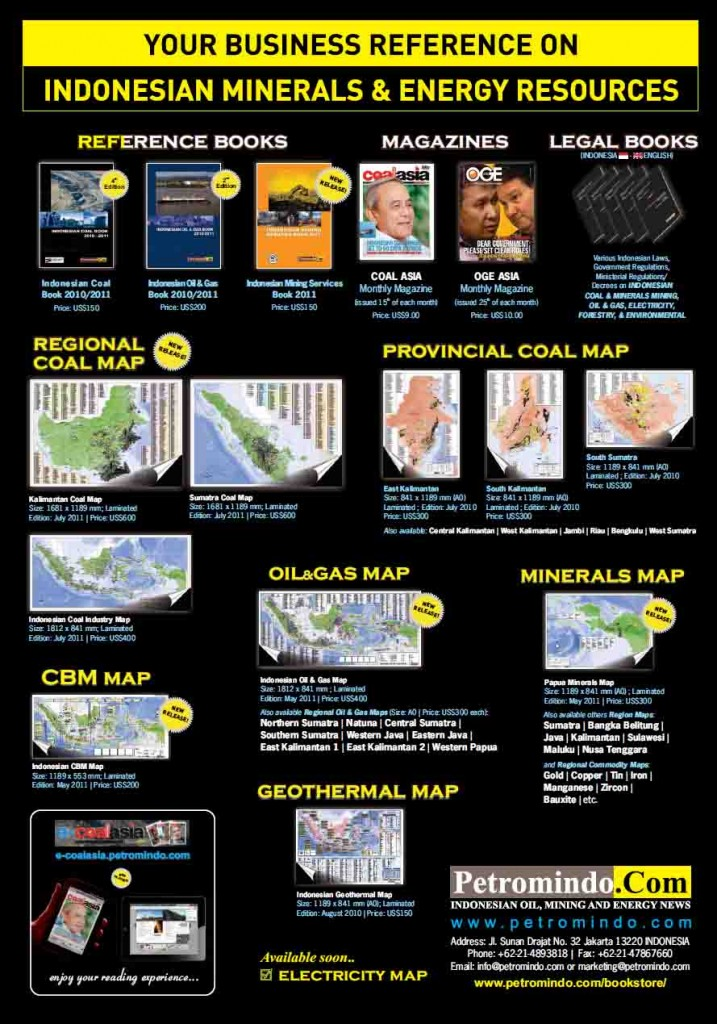 Indonesian Coal Book 2010 / 2011, Books, Maps Order Form